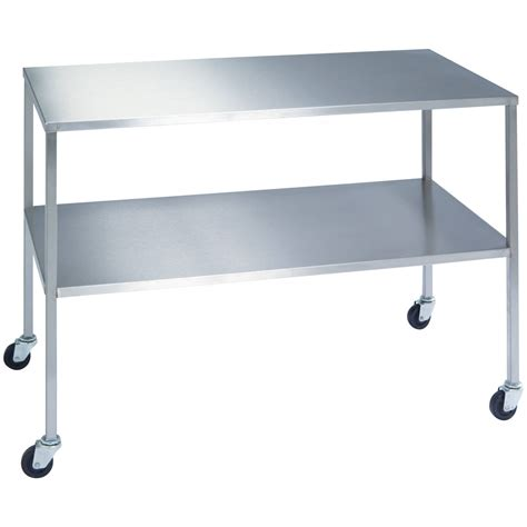 stainless steel tables and shelves lakeside stainless steel instrument table with shelf