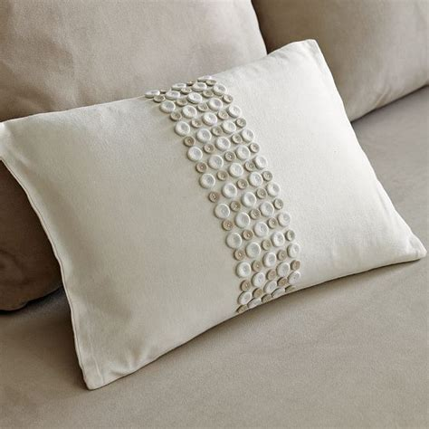 Decorative Pillows With Buttons New Abraham Thakore Button Panel Pillow Cover Modern