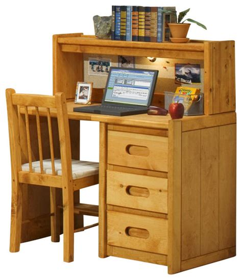 Children S Desk With Hutch 3 Drawer Student Desk With Hutch Contemporary Desks And Desk Sets By Shopladder