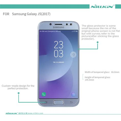 Nillkin Screen Protector Samsung Galaxy J5 Clear nillkin amazing h tempered glass screen protector for