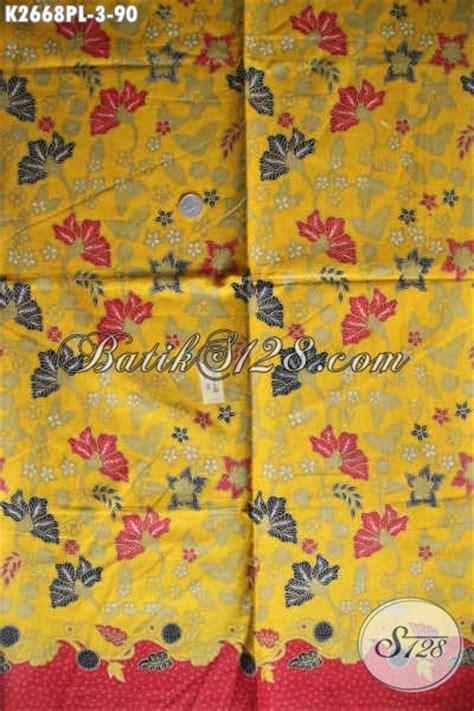 Kain Batik Tulis Lasem Motif Bunga batik kain dasar kuning motif bunga proses print lasem