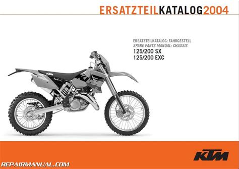 Ktm Spare Parts Catalog 2004 Ktm 125 200 Exc Sx Chassis Spare Parts Manual