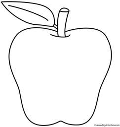 apple coloring page back to