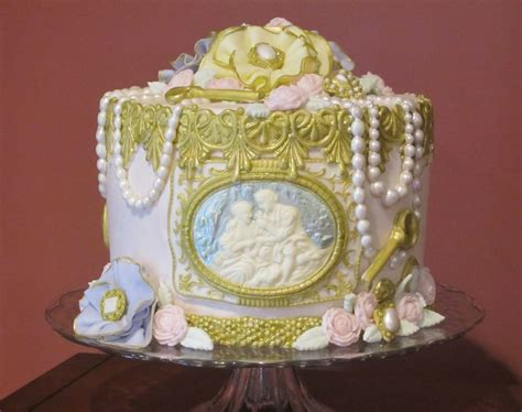victorian themed birthday cakes vintage victorian 50th birthday cakecentral com