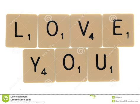scrabble i you you scrabble letters stock photo image 50039762