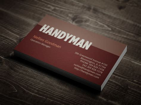 handyman business card templates handyman business card template business card sle