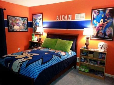 sonic bedroom graphic wall art  bedding add