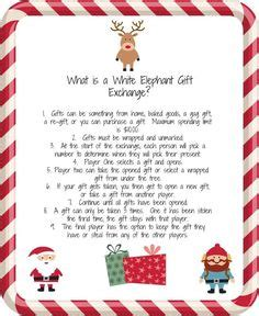 ornament exchange poem white elephant gift exchange and printables elephant