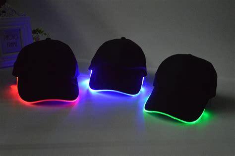 baseball cap with led lights fashionable led baseball cap dhl attractive led lighting