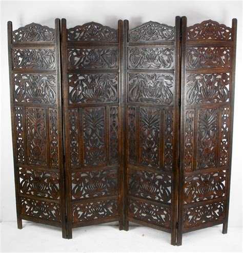 carved wood room divider 4 panel carved indian screen wooden leaves design screen room divider scr9vaa