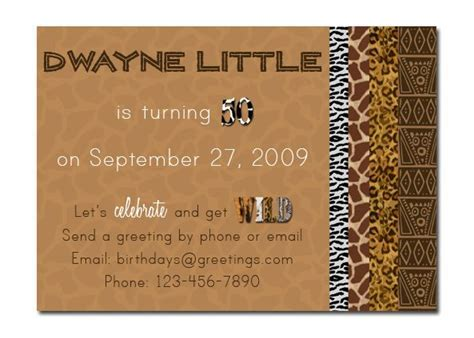 Let?s get WILD!   Home   Birthday invitations, African