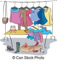 Clothing Rack Clipart by Clothes Rack Vector Clipart Royalty Free 1 751 Clothes