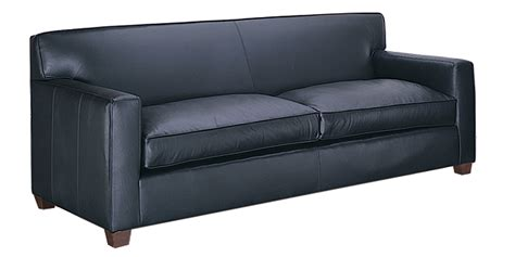 modern leather track arm couch and chair with ottoman