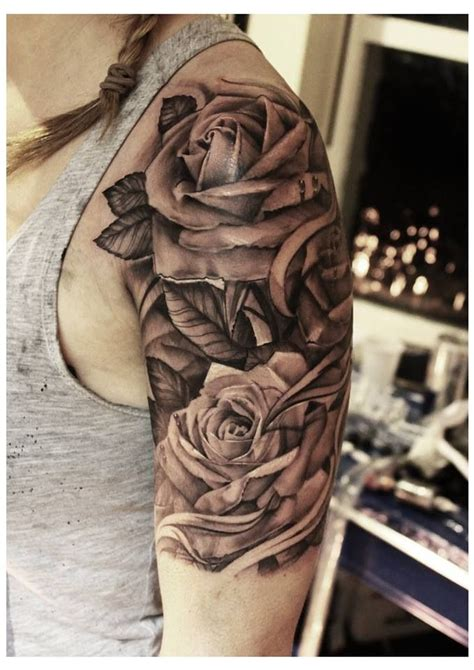 rose tattoos on upper arm arm tattoos roses