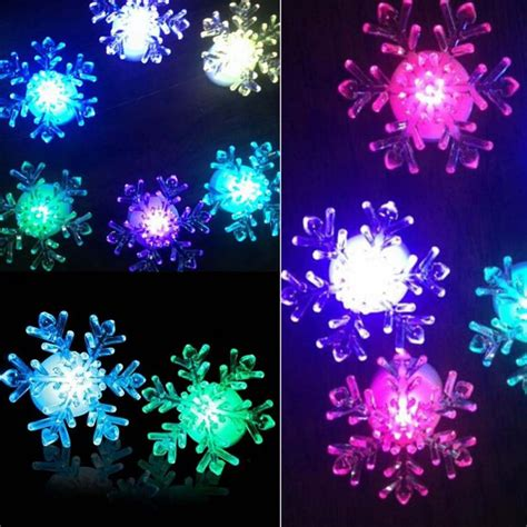 xmas 7 color changing snowflake window led christmas