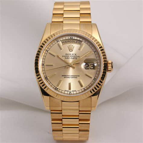 rolex 69 gold rolex day date 118238 chagne watchcollectors co uk