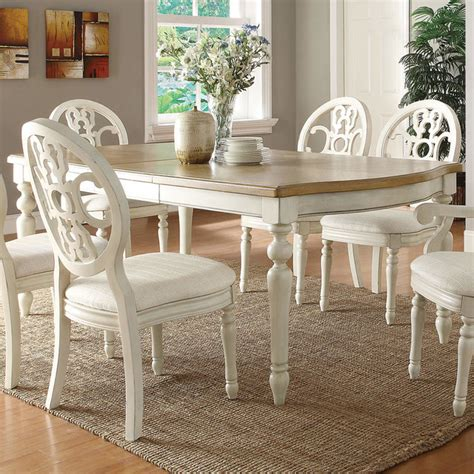 rebecca extension dining table antique whiteoak modern