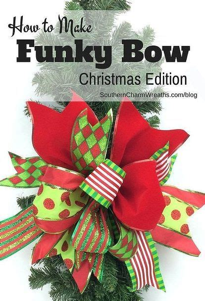 how to make bows for top of christmas tree use scraps of ribbon to create a funky bow decoration crafts crafts and