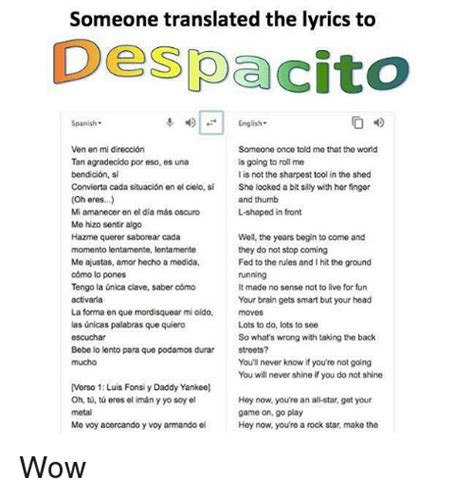 despacito song meaning someone translated the lyrics to despacito spanish 4