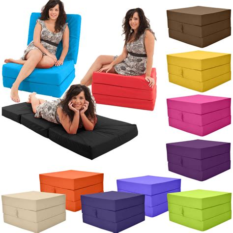 adult futon stain resistant fold out adult cube guest z bed chair cube