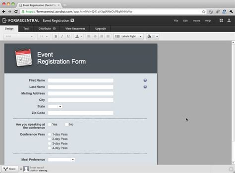 creating a form from a template gt using the new adobe