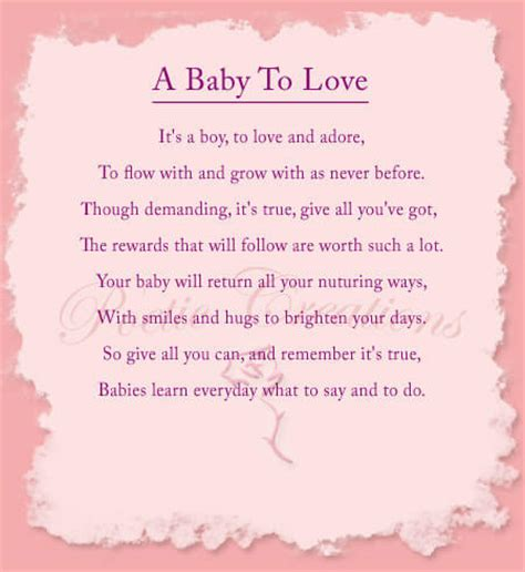 Baby Shower Poems by The Gallery For Gt Baby Shower Poems