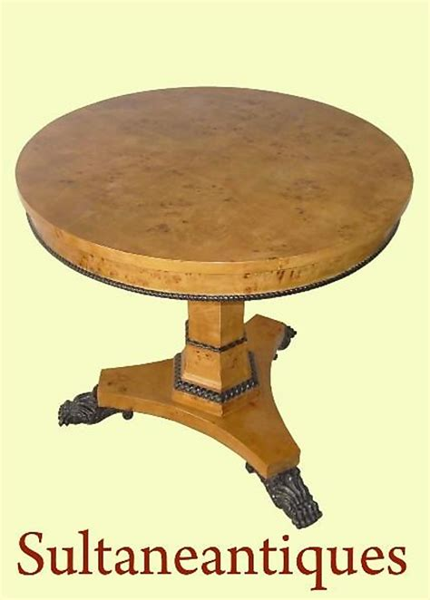 center table for sale empire style satin elm center table for