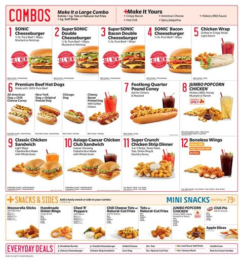 Chicken Club Toaster Sonic Menu And Prices 2018 Restaurantfoodmenu