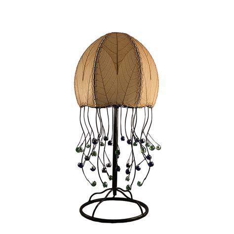 eangee home design lighting eangee 399 t n jellyfish table l in natural cocoa leaves