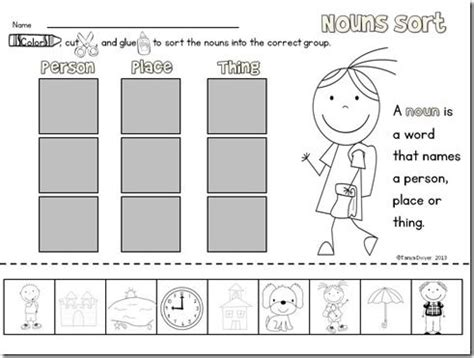Nouns Worksheet Kindergarten by 30 Best Images About Nouns Verbs Adjectives Oh My On