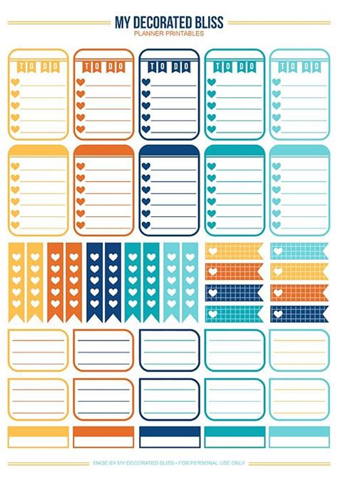 etsy free printable planner shop mydecoratedbliss etsy com 01 sler set printable