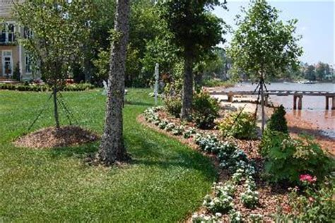 lakefront landscaping pictures and photos
