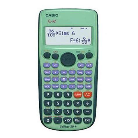 calcolatrice casio calculatrice casio fx 92 coll 232 ge fournitures scolaires