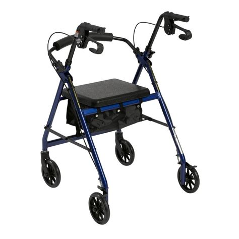 folding rollator walker with seat walker rollator with 6 quot wheels fold up removable back