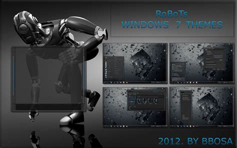 themes windows 7 exo robots windows 7 themes by bbosa by bbosa on deviantart