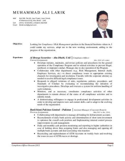 compliance officer resume anti money laundering compliance financial