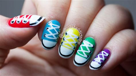 easy nail art converse converse shoes nail art tutorial by nailpolishaddicted