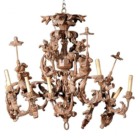 Monkey Chandelier Carved Italian Monkey Chandelier At 1stdibs