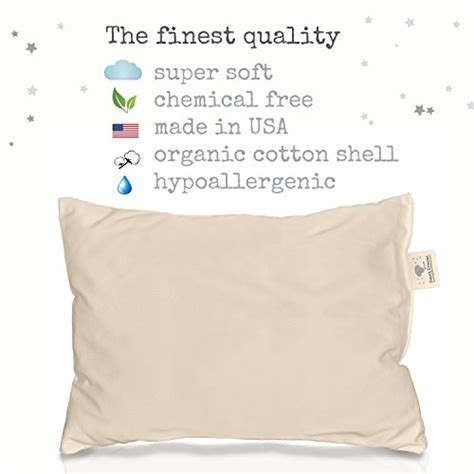 organic cotton standard size buckwheat 100 natural white bed pillows made in usa hypoallergenic goose