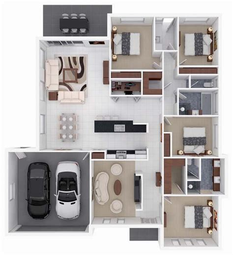 Floor Plans For Small Houses With 2 Bedrooms 17 best ideas about 4 bedroom apartments on pinterest