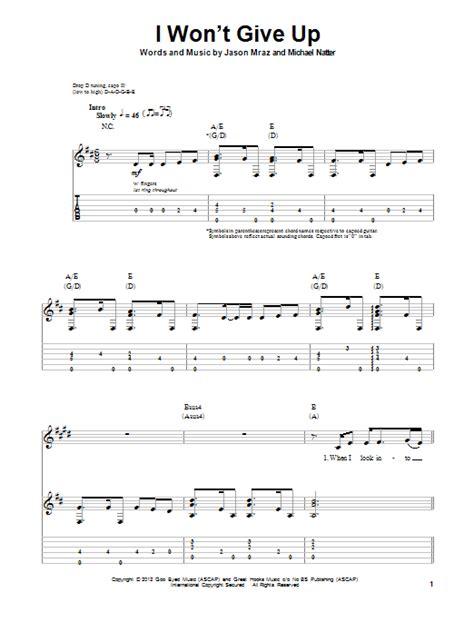 ukulele tutorial i won t give up i won t give up sheet music direct