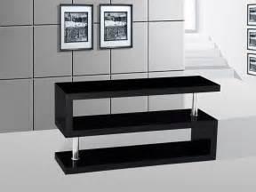 Miami high gloss modern black tv stand