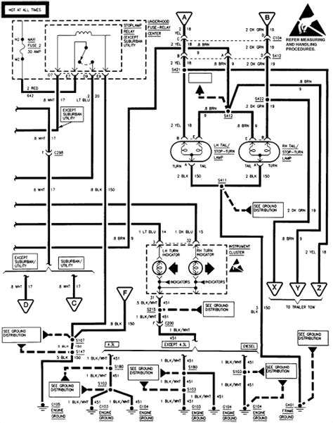 03 chevy trailblazer fuse box led resistor wiring diagram honda civic dx fuse diagram for 95 i a 97 chevy silverado 1500 4x4 and the brake lights do not operate properly they work