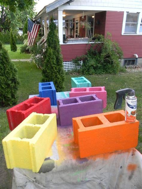 cinder block patio furniture hometalk cinder block bench