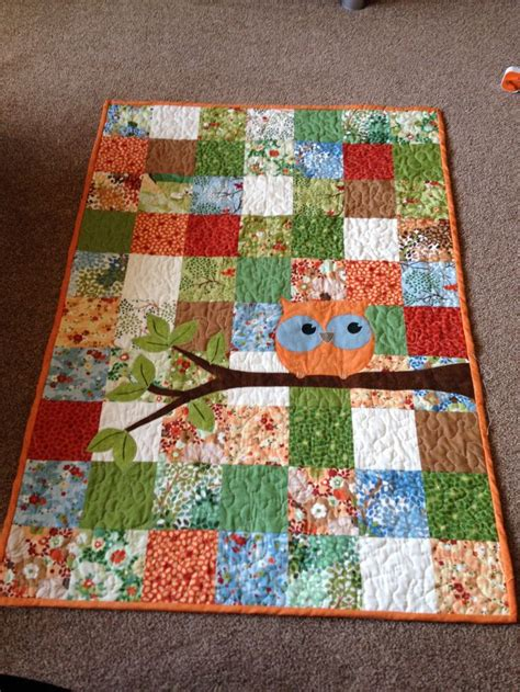 owl baby quilt quilting