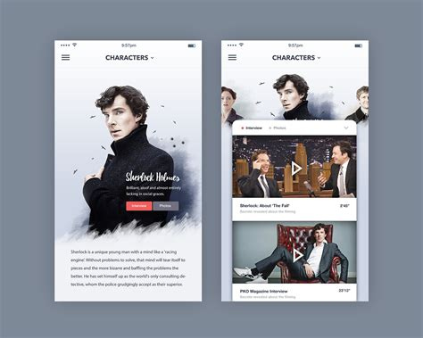 mobile tv show tv show landing page mobile on behance