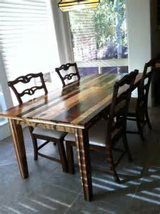 dining room table made from pallet wood created by gregg