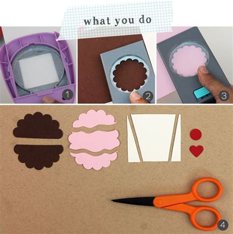 paper punch craft ideas easy like sunday morning paper punch cupcakes damask