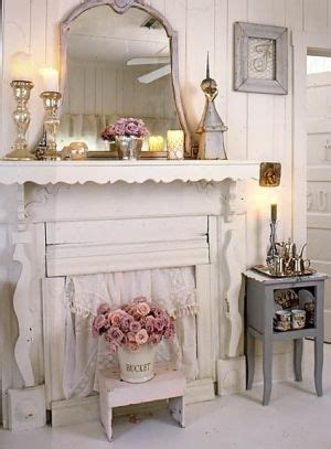shabby chicyou    fake fire place