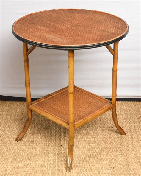 Rattan Side Table Bamboo And Rattan Side Table At 1stdibs